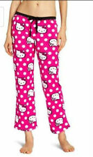 Hello Kitty Juniors Dot Head Print Pants Hot Pink/White S M L XL BIN NR SEEPICS