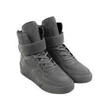 Radii Apex Mens Gray Suede High Top Lace Up Sneakers Shoes