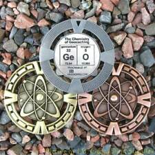 """GeO - Chemistry of Geocaching Geomedal Geocoin (2.5"""", Cutouts, Antique Finish)"""