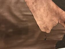 Dark Brown BY THE PIECE Top Grain Cowhide Leather Craft Panel 2 / 3 oz, 3 / 4 oz