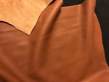 Brown BY THE PIECE Top Grain Cowhide Leather Craft Panel 2 / 3 oz, 3 / 4 oz
