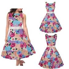 Vintage Womens Elegant Evening Party Cocktail Floral Retro Pinup Swing Dresses