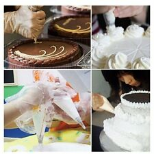 100Pcs Disposable Piping Bag & Icing Nozzle Fondant Cake Decorating Pastry GCN