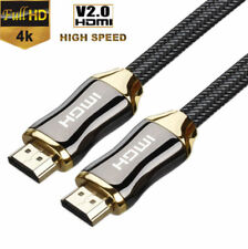 1-15M Premium Ultra HD HDMI Cable v2.0 High Speed Ethernet HDTV 2160p 4K 3D GOLD