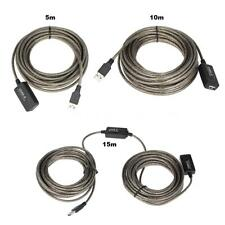 USB 2.0 Active Repeater Male to Female Extension Cable Cord 16ft/32ft/49ft S9P3