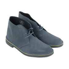 Bostonian Desert Boot Mens Blue Suede Casual Dress Lace Up Chukkas Shoes