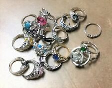 Size 9 Rings with Some Silver and Gem Stones - Fine Jewelry