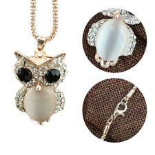 Long Sweater Chain Crystal Pendant Jewelry Women Owl Rhinestone Necklace Animal