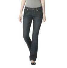 Mossimo Womens Slim Fit Lowest Rise Dirty Wash Bootcut Jeans Denim Dark Blue