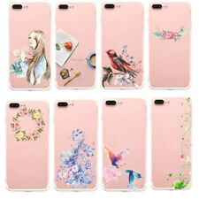 1Pcs Transparent TPU Simple art Back Cover Phone For iPhone Beautiful New Case