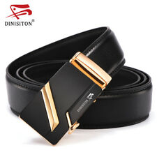 GENUINE MEN'S LEATHER BELT Automatic Buckle High Quality Fashion Jeans Waistband