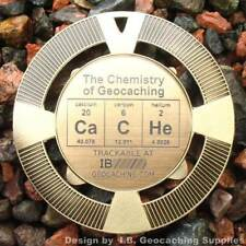"CaCHe - Chemistry of Geocaching Geomedal Geocoin (2.5"", Cutouts, Antique Finish)"