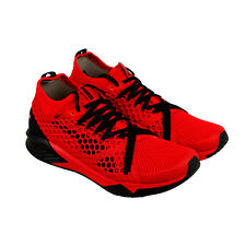Puma Ignite Xt Netfit Mens Red Nylon Athletic Lace Up Running Shoes