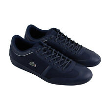 Lacoste Misano Sport 218 1 Cam Mens Blue Leather Lace Up Sneakers Shoes