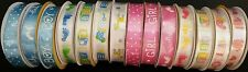"""Baby Shower Satin Gift Wrapping Ribbons 5/8""""x144"""", Select: Theme"""