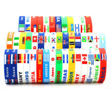 2018 World Cup Country Flag Unisex Silicone Bracelet Rubber Sport Fans Wristband