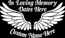 In Loving Memory with Wings Vinyl Car Window Decal Bumper Sticker US Seller