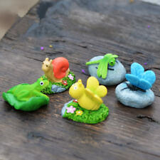 6 Style DIY Craft Statue Miniatures Resin Animal Mini Garden Decor for Kids Toy