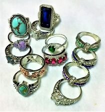Size 9 Rings With Some Silver and With Stones (Not Gemstones) - Fine Jewelry