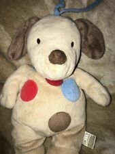 Carters Child of Mine Musical Puppy Dog Crib Pull Polka Dots Plush Spots @A