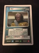 1994 Decipher Star Trek The Next Generation CCG Premiere WB Limited Worf Card