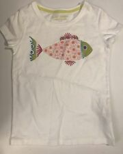 MINI BODEN Floral Fish BIG APPLIQUE T-SHIRT Top 3 - 4 Years NWT