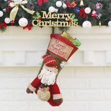 Merry Christmas Stockings for Party Children Kids Candy Bags Socks Gifts Decor