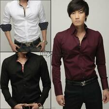 Mens Casual Slim Fit Stylish Dress Shirts 3 color 3 size MSF