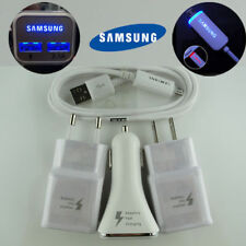 OEM LED Adaptive FAST Car Charger+USB  Cable Samsung Galaxy Note 4/5 S6 S7 Edge