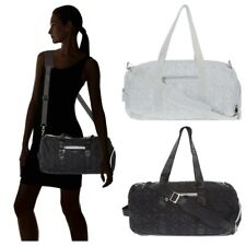FIORELLI SPORT Lightweight Grey / Black Quilted Duffle Bag with Shoulder Strap