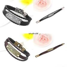 Casual Vintage Style Artificial Leather Letter Pattern Layered Bracelet LKR8
