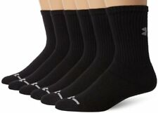Under Armour Socks Mens Charged Cotton Crew (Pack of 6)- Pick SZ/Color.