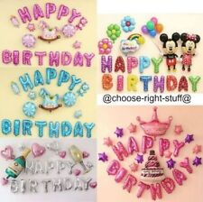 BABY BOY OR GIRL PUSH CHAIR FOIL BALLOON BANNER BUNTING PARTY DECOR foil baloons