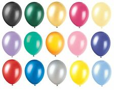 25-100 Metallic Latex pearl Balloons Helium LARGE High Quality Wedding Pearlised