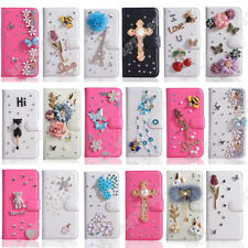 Patterned Wallet Case Cover Bling Card Pocket Kickstand Leather Skin For iPhone