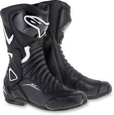 Alpinestars Pair Black White SMX6 Womens Motorcycle Riding Street Racing Boots