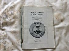 1938 ORIGINAL HMS GANGES ROYAL NAVY NAVAL SCHOOL MAGAZINE LOTS OF PHOTOS NAMES