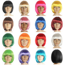 Fashion Women Ladies Wigs Straight BOB Hair Cosplay Halloween Party Short Wig