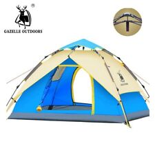 GAZELLE Camping Tent 3-4 person Tents Hydraulic automatic Waterproof Double