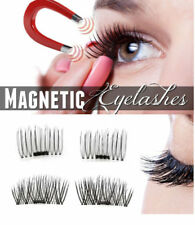 4Pc Magnetic False Eyelashes Natural Handmade 3D Reusable Eye Lashes Lightweight