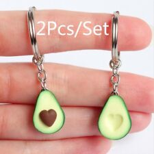 Friendship Gifts Jewelry Set Keychain Long chain Green Avocado Necklace Earring