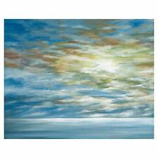 Highland Dunes 'Coastal Landscape' Acrylic Painting Print on Wrapped Canvas