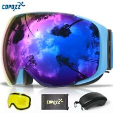 COPOZZ Magnetic Ski Goggles with 2s Quick-change Lens and Case Set UV400
