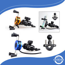 "Universal Motorcycle ATV MTB Mobile Phone Holder Clamp Mount For 4-6.5"" Screen"