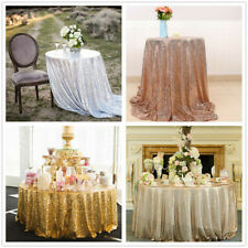 Glitter Sequin Tablecloth Round Table Cloth Cover Topper Wedding Banquet Party