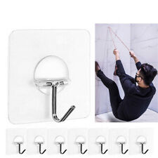 Strong Transparent Suction Cup Sucker Wall Hooks Hanger For Kitchen Bathroom