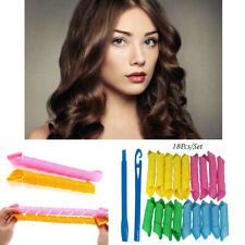 18Pcs Magic Long Hair Curlers Curl Formers Leverage Rollers Spiral US 30cm+20cm