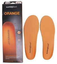 NEW Superfeet ORANGE Insoles - Arch Support Orthotic Shoe Inserts SIZE C G
