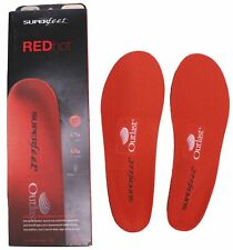 NEW Superfeet REDhot Insoles - Arch Support Orthotic Shoe Inserts Size C D G
