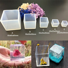 DIY Silicone Pendant Mold Jewelry Making Cube Resin Casting Mould Craft Tool LI